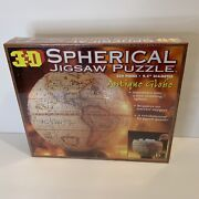 3d Spherical Antique Globe Jigsaw Puzzle Sealed New 530 Pc 1998 Buffalo Games