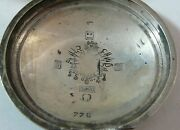 Wwi Trophy Pocket Watch Case Coat Of Arms Of The Ottoman Empire Silver 800