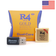 R4 Gold Isdhc 2021 For Ds/3ds/2ds/ndsll Revolution Cartridge With Usb Adapter
