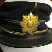 Former Japanese Imperial Army Meiji Period Military Cap Hat Antique Japan