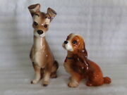 Disney Lady And The Tramp Vintage Ceramic Porcelain Figurines Excellent Condition