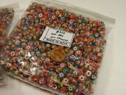 2 Pounds Assorted India Handmade Chevron Multilayer Glass Beads Bulk Lot Rj-8