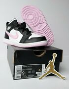 🔥 Air Jordan 1 Mid Td Artic Pink 644507-103 Pink Black White Size 9c Sold Out