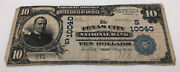 National Currency 1902 Series 10 Note Texas City National Bank Dated Back 10040