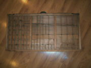 Antique Collector's Wood Printers Drawer Letterpress Type Set Tray Shadow Box