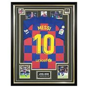 Signed Lionel Messi Shirt - Framed Fc Barcelona Icon Autograph +coa