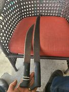 2 Vintage Collins And Co Legitimus Machete Pre Owned Condition 21 And 28 Inch Long