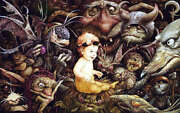 Toby And The Goblins By Brian Froud Rare S/n Fairy Art Print
