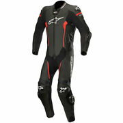 Alpinestars Missile 1 Piece Motorcycle Motorbike Leather Suit - Black / Red