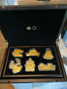 2020 Rcm 50 Real Shapes Seriescomplete 6 Coin Set With Wood Box