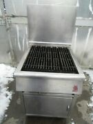 Wolf Grill 25 1/2 Propane Commercial Grill Ss Under Storage On Casters