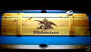 Budweiser Pool Table Light And Cue Rack Combo - Billiards Man Cave Bar Lounge