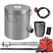 10kg Gas Melting Furnace Propane Metal Gold Copper Smelter Jewelry Tool Us Stock