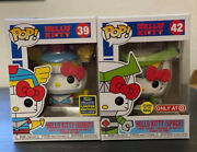 Funko Pop Hello Kitty Robot 39 Sdcc '20 And Space 42 Target Lot Of 2 Read