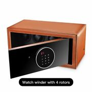 Automatic Mechanical Watch Winder With 4 Rotors Case Watches Box Safe Display