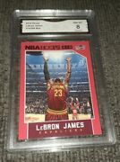 2015-16 Hoops Lebron James 14 Red /299 Gma 8 Chalk Toss.