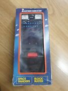Vintage Sinitron Space Invaders And Block Buster Electronic Handheld Game V Rare