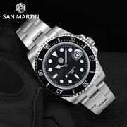 San Martin Sub 41mm Mens Luxury Watches Water Ghost Pt5000 Automatic Diver Watch