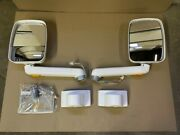 Ramco 9000 Series Power Convex Side Mirrors White With Mounts Mirrors Rv Coach