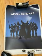 Limited We Can Be Heroes Justice League Signed Jim Lee Poster Litho 2/40