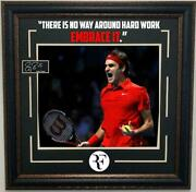 Roger Federer Framed Photo With Laser Engraved Signature And Quote