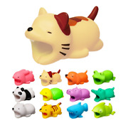Phone Charging Cable Bite Protector Winder Cute Animal Cover Protect Case Wire