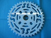 Se Bikes Bmx Chainring 39 Tooth With/adapter 1/8 Steel Blue - New