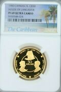 1980 Cayman Is Gold 50 Dollars House Of Lancaster Ngc Pf 69 Ultra Cameo Scarce