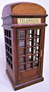 Wooden Berkeley Phone Booth Music Box Plays . I Just Called To Say I Love You