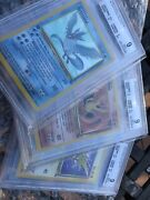 Pokemon First Edition Fossil Articuno Zapdos Moltres Holo Bgs Psa 9 Beckett Mint