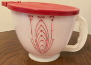 Vintage Tupperware Mix N Stor Pitcher Red Lid 1970andrsquos 500-3 Excellent Condition