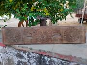 18th Antique South Indian Bird Carved Wooden Door Panel Unfinished Bracket Old