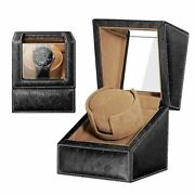 Automatic Watch Winder For 1-2 Watch Black Brown Watches Holder Case Box