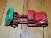 Vintage Arcade Cast Iron Dump Truck Red And Green Original Paint Nice