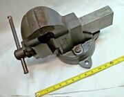Parker No. 973-1/2 Swivel Bench Vise 3-1/2 Wide Jaws Opens To 4-1/2 Usa