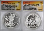 2013-w Proof American Silver Eagle 2-coin Set 1 - Anacs Eu70 And Rp70 Dcam -