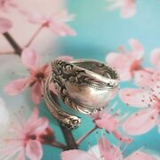 Vintage Silver Ring Signed Towle Sterling King Richard Pattern Wrap Size 7