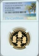 1980 Cayman Is Gold 50 Dollars House Of Plantagenet Ii Ngc Pf 69 Ultra Cameo Top