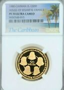 1980 Cayman Is Gold 50 Dollars House Of Stuart And Orange Ngc Pf 70 Ultra Cameo