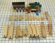 1994 Thomas The Tank Engine Wooden Tracks Buildings And Friends Bundle
