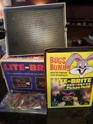 Vintage 1967 Lite-brite Hasbro 5455 Original Box Tested Works Pages Included