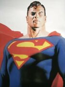 """Dc Direct 2000 Superman Alex Ross 22""""x34 Poster New Sealed"""