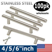 25pack Brushed Nickel Cabinet Pulls Stainless Steel Drawer T Bar Handles 4-6in