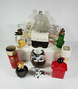 Vtg Lot Of 12 80 Full And Empty Mixed Avon Cologne Collectible Bottles Decanters