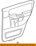 Ford Oem 03-06 Expedition-door Interior Trim Panel Right 2l1z7827406aaa
