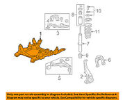 Cadillac Gm Oem 06-08 Sts Front Suspension-susp Subframe 25807370