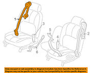 Buick Gm Oem 00-01 Lesabre Front Seat-belt And Buckle Retractor Right 88951166