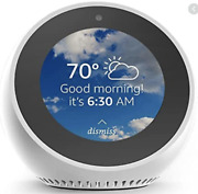 New Echo Spot White With Alexa Voice Smart Assistant Lcd Touchscreen