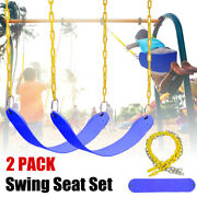 2 Pack Swing Seat Set Accessories W/replacement Coated Chains Kidsandadult Outdoor