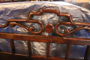 Antique Chinese Carved King Headboard 80 In. Long 33 Tall Shipping Arrainged